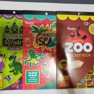 Other - Sticker books, 3 books